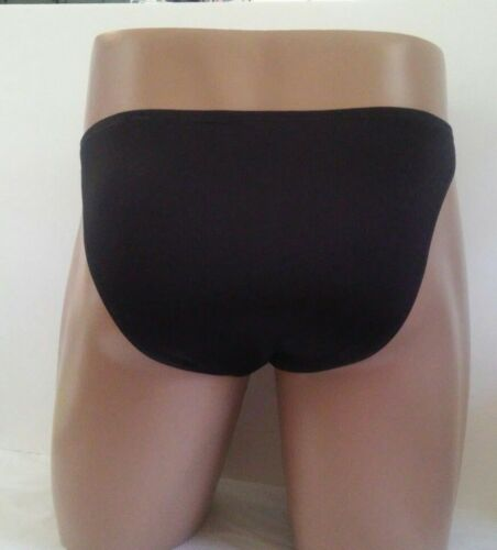 Mens Custom Bikini Brief s m l or xl  Swimsuit Spandex NEW Style Narrow   Black