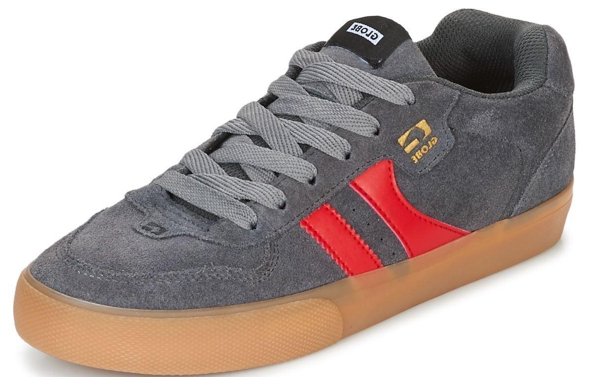 Cómodo y bien parecido Scarpe Skate Uomo Globe Shoes ENCORE 2 Grigio Charcoal Gum Red Schuhe Chaussures
