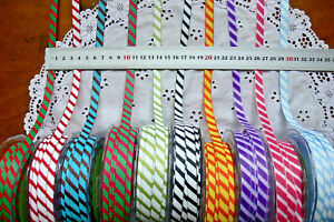 TEAM-SPIRIT-Grosgrain-Diagonal-Stripes-Rbn-9mmWide-3-amp-5-Metre-11ColourChoice-LLD8