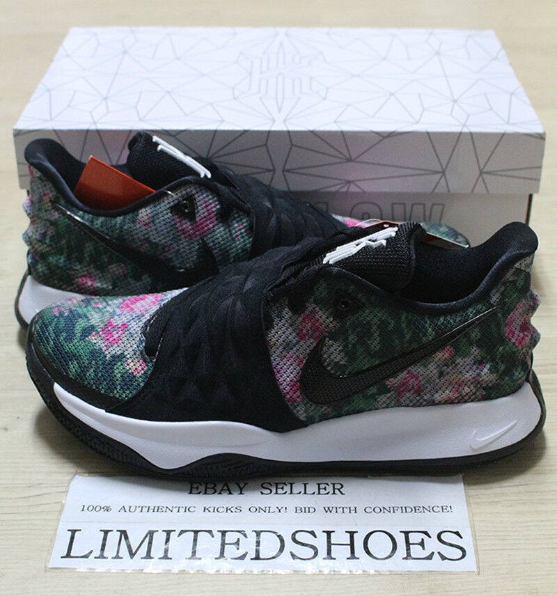 NIKE KYRIE LOW EP  FLORAL  BLACK MULTI-COLOR AO8980-002 Mens Basketball shoes