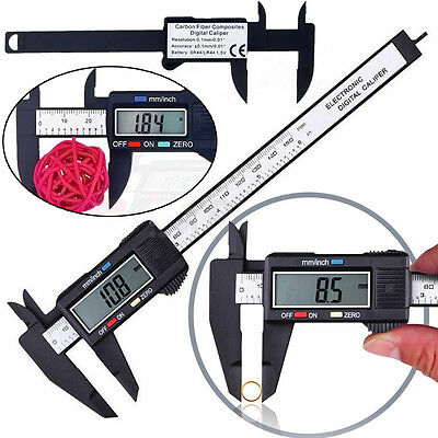 Hot Carbon 6inch Caliper Gauge Vernier Electronic Fiber Micrometer LCD Digital