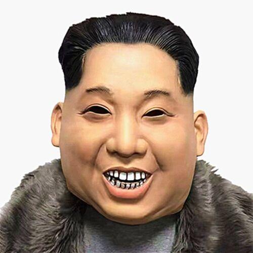 NEW Realistic Celebrity Halloween Costume President Latex New Kim Jong Un Mask