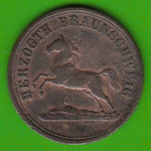Braunschweig 2 Pennies 1860 Good Very Fine nswleipzig