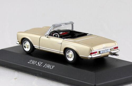 Mercedes 230SL Roadster gold 1963 1:43 Atlas Modellauto