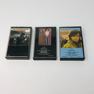 Lot Of 3 John Cougar Mellencamp Cassette Tapes Scarecrow Uh-Huh American Fool