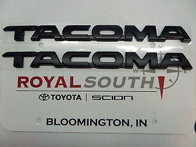 Toyota Tacoma 2015 TRD Pro Flat Black Emblems Genuine OEM OE