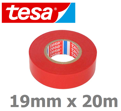 19 mm x 20 m Tesa Electrical PVC Insulation Tape Cable Red