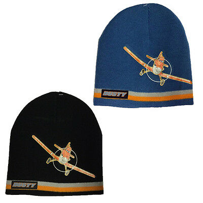 DISNEY PLANES BEANIE HAT WARM WINTER KNITTED BOYS THERMAL KNIT SKI CAP XMAS NEW