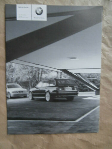 listino prezzi Edition Pricelist BMW 520i-540i,525d,530 e39 Touring 9//2003