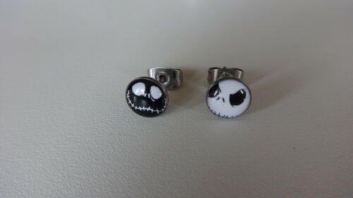 Set Jack Skellington Nightmare Before Christmas Halloween ~ 7 mm pendientes