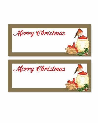 48 X Traditionnel Or Rouge Noël Robin Place Cartes Nom Numéro Table paramètres