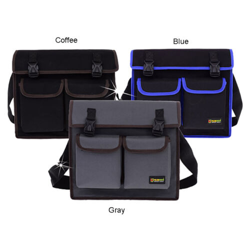 Heavy Duty Canvas Electrician Utility Tool Bag Adjust Shoulder Strap for Wrench