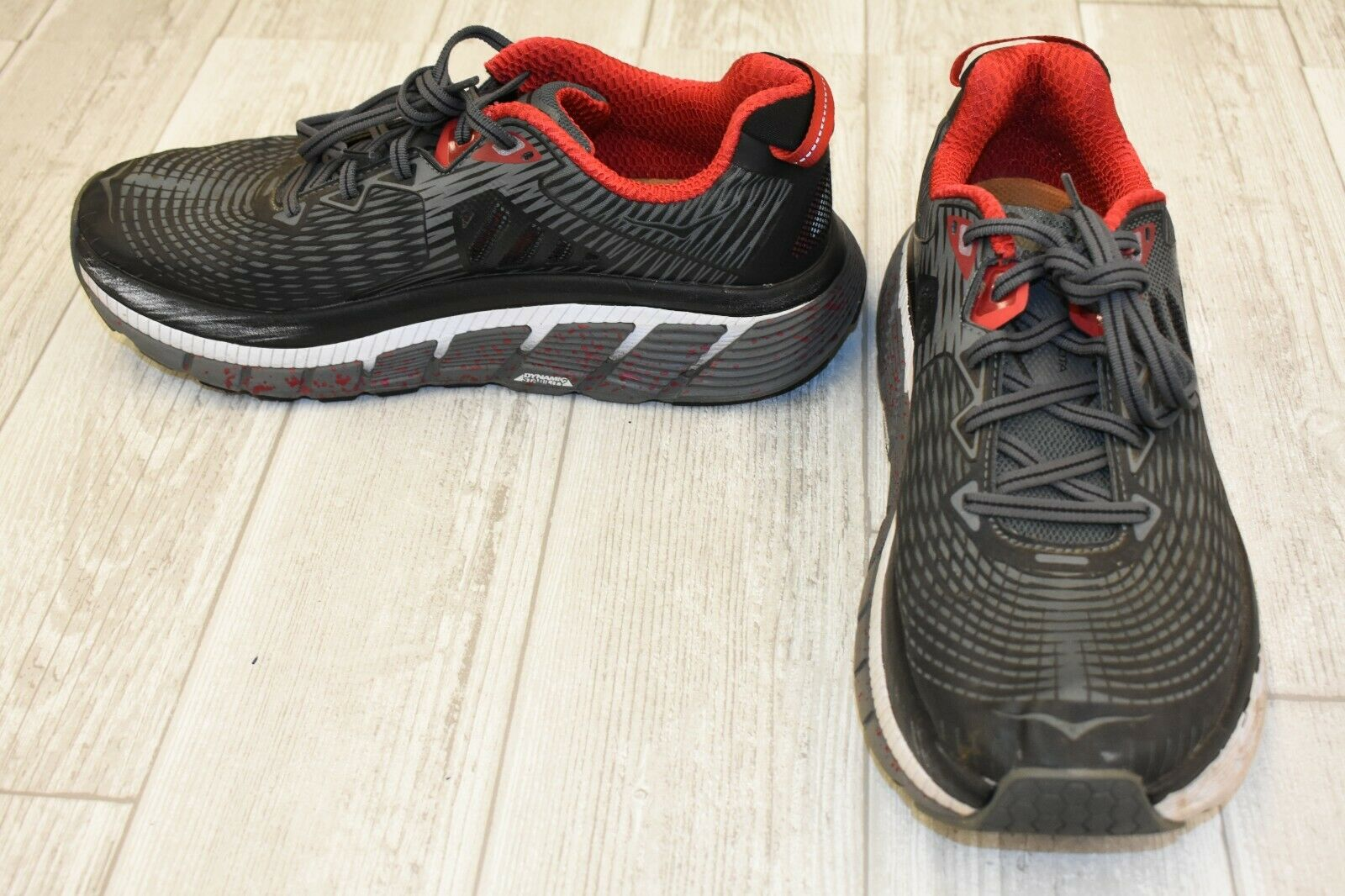 Hoka One Gaviota Running zapatos-One para hombres Negro gris Rojo