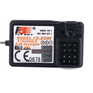 Brandneue-Standard-FS-GR3E-2-4Ghz-3-Kanal-Empfaenger-fuer-RC-Auto-Boot