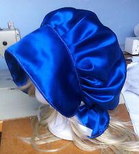 victorian edwardian adult baby fancy dress blue satin bonnet cap hat sissy maid
