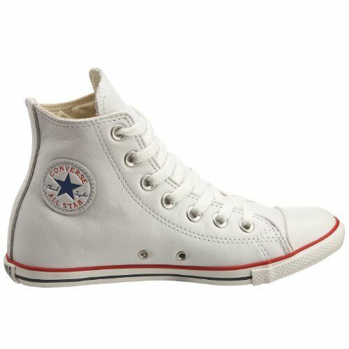 Converse Chuck Taylor All Star SLIM LEATHER HI ToP WHITE  Sizes 3.5 or 4