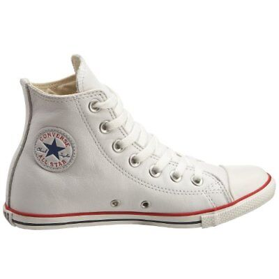 Converse Chuck Taylor All Star Slim Leder Hi Top weiß