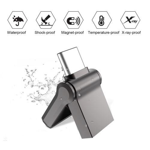 32//64GB Type C USB 3.0 Ultra Mini Flash Drive Sticks Pen thumb Drive Silver