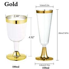 51f27a5745e 6 x Disposable Wine Glasses 5 OZ Premium Clear Hard Plastic Fancy Cup  Tableware
