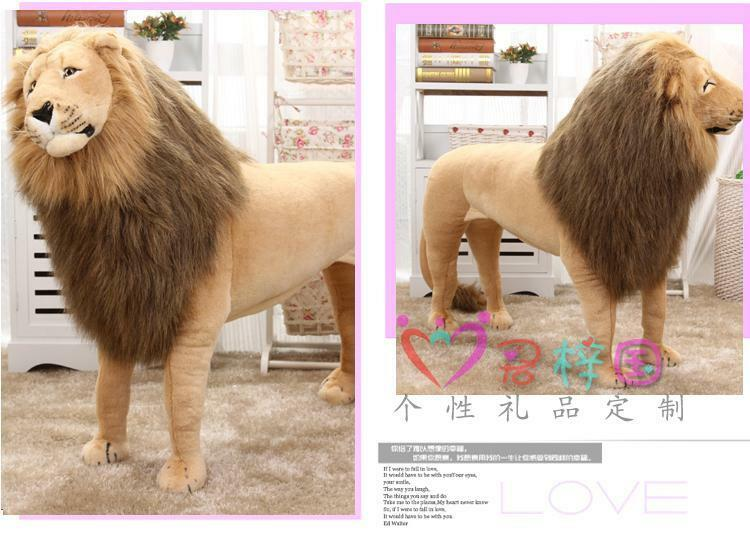 40  Simulation Lion Suit Plush Toy Big Lifelike Rideable Animal Stuffed Kid Gift
