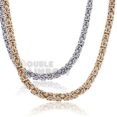 "Jewelry & Watches Symbol Of The Brand C12 20-36""men Stainless Steel Gold Silver Bali Byzantine Antiqued Necklace Chain Keep You Fit All The Time"