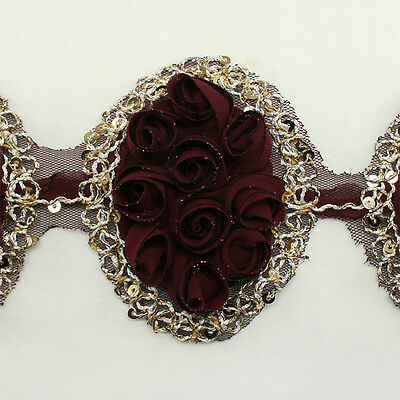 Sequin Chiffon Flower Trim Lace #95 - Hair Accessories Clip Headbands Millinery