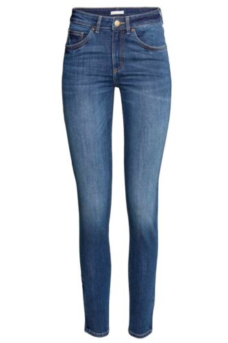 Débardeur Femmes EX-Zara Spandex Jeans Stretch Noir Foncé Jean Délavé Pantalon 8-16