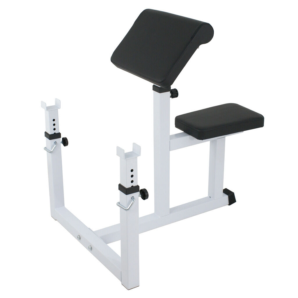 31  - 35  Preacher Curl Weight Bench Seated Preacher Isolated Dumbbell Biceps