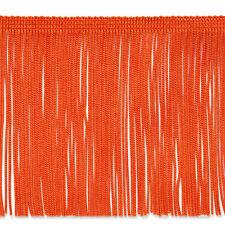 "By the Yard 6"" Orange Chainette Fabric Fringe Lampshade Lamp Costume Trim"