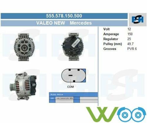 Original VALEO NEW Lichtmaschine 555.578.150.500