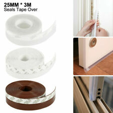 Door Bottom Seal Strip Weatherproof Soundproof Anti Mosquito Insect Self Adhesive Gap Silicone Door Strip Bottom Weather Stripping Door Seal Strip for House and Glass Shower Door Window 50mm