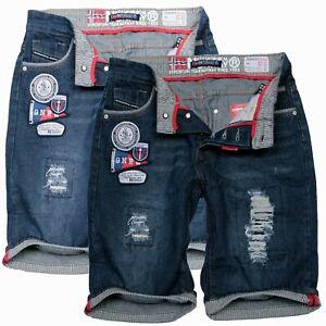 Geographical-Norway-Herren-Bermuda-Jeans-Shorts-Short-Knielang-Kurze-Hose-PRAGMA