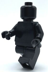 LEGO-SOLID-BLACK-MINIFIGURE-MONOCHROME-BLANK-PLAIN-SHIRT-FIGURE