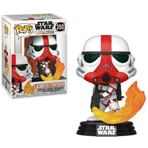 TV Vinyle personnage Incinerator un stormtrooper 9 cm Star Wars The Mandalorian Pop