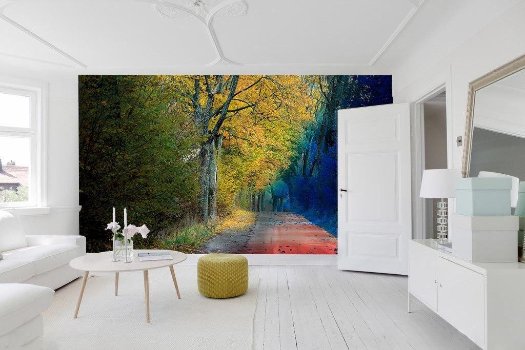 3D bluee Yellow Woods 9 Wall Paper Murals Wall Print Wall Wallpaper Mural AU Kyra
