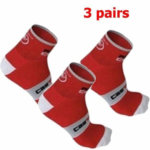 3pairs Riding Mens Bicycle Socks Running sports socks Castelli Breathable Socks