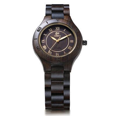 Vintage Dame Frau Leuchtende Analoge Holz Armbanduhr Quarzuhr Manner Mode Uhr
