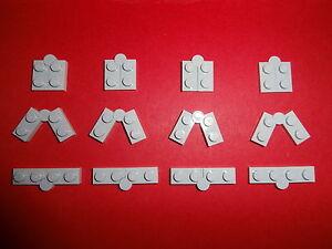 LEGO TECHNIK  12  x  waagrechte Scharniere in  hellgrau  1x4  Noppen   NEU