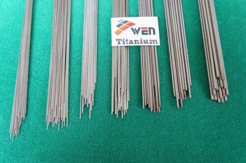 "2mm Dia Titanium 6al-4v round bar .078/"" x 10/"" Ti Wire Welding grade 5 rod 50pcs"