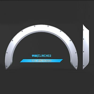 Clinched 7cm JDM Fender Flares ABS plastic