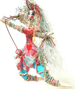 Whimsical Hand Made Multi Colored Fairy/Free Spirit Ornament