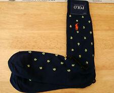 POLO RALPH LAUREN Exquisite Sock Navy Luxury Cotton Smart Crew Socks 1 Pair BNWT