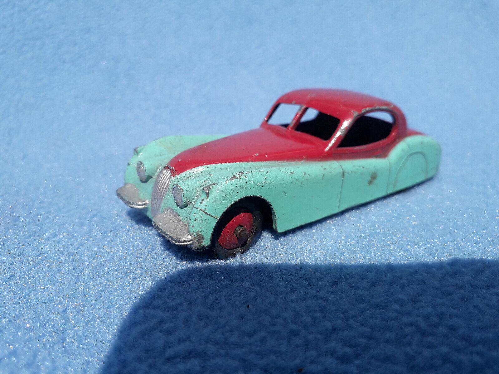 Vintage Dinky 157 Jaguar XK120 in Rare Two-Tone bluee & Cerise.