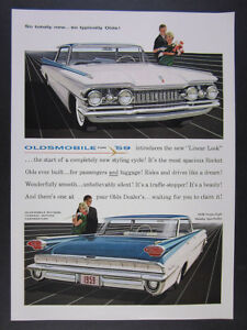 1959 Oldsmobile 98 Ninety Eight Holiday Sport Sedan Color Art