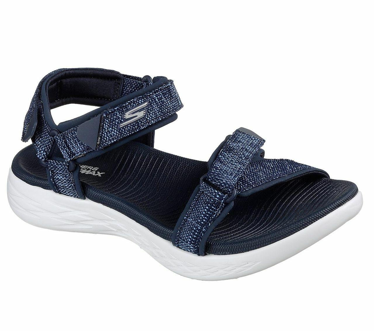 Skechers o-t-g mujer sandals on-the-go 600 radiant sandalias zapatos señora azul