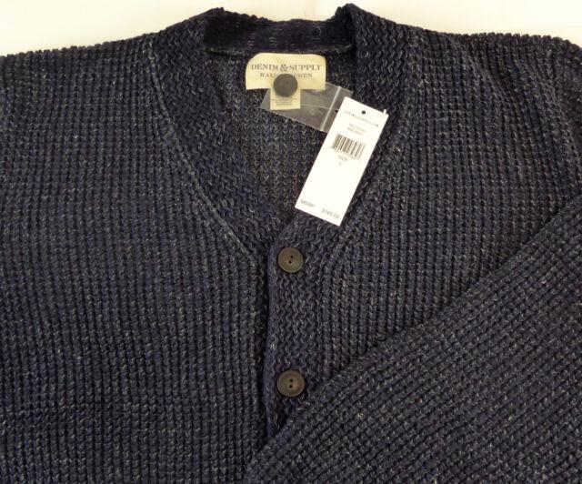 2XL Waffle Knit Cardigan with Pockets Grey Blue Black Size S Navy