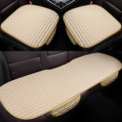 Universal Car Rear Back Seat Cover Breathable PU Leather Chair Cushion Protector