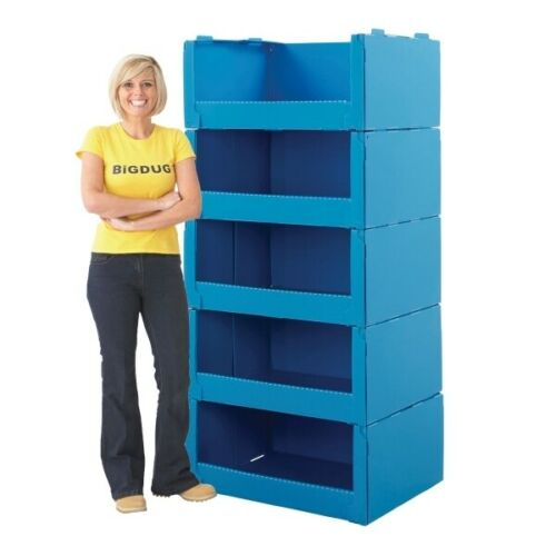 Large Plastic Stacking Pick Bin Storage Boxes with Open Pick Front