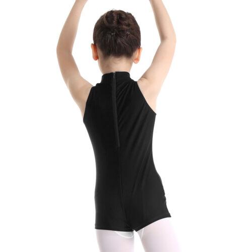 Girls Gymnastics Sports Leotard Jumpsuit Ballet Dance Bodysuit Dancewear Costume