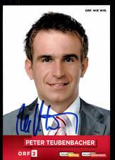 Peter Teubenbacher ORF Autogrammkarte Original Signiert ## BC 52161